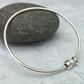 Silver Charm Bangle, Hammered Silver Bangle, Silver Bangle - BAN030