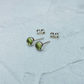 Green Peridot Studs, Peridot Earrings, Peridot Jewellery, Small Studs - STUD133