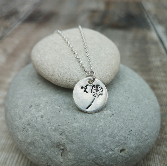 Sterling Silver Dandelion Wishes Necklace - NEK066