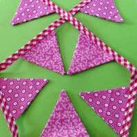 Mini Bunting - Pink Gingham & Floral