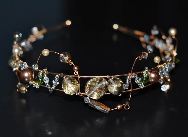 Swarovski Crystal and Gold Plated Tiara