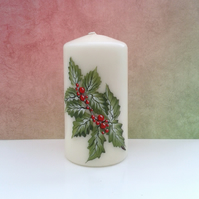 Holly Candle