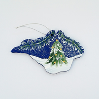 Hand painted Isle of Wight Christmas  decoration
