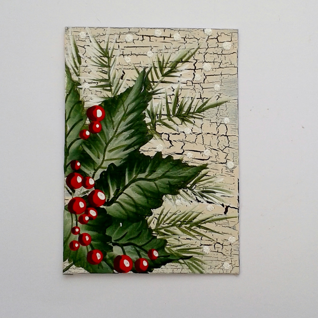 ACEO acrylic painting holly 004
