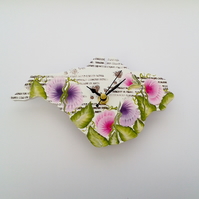 Isle of Wight clock - Sweet pea MADE TO ORDER