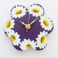 Daisy Clock Purple