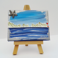 Mini easel canvas the Needles - acrylic original