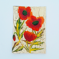 ACEO acrylic painting poppies 010