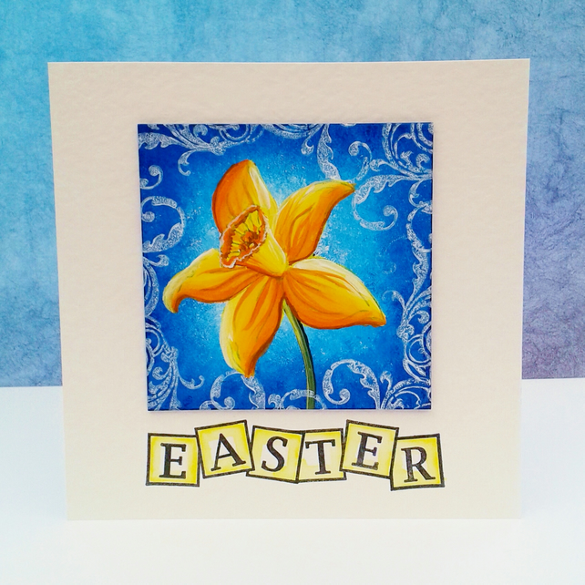 Hand painted Easter card