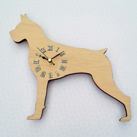 Boxer dog clock