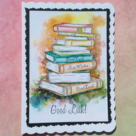 Good luck card hand painted watercolour