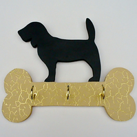 Beagle dog key or lead hanger