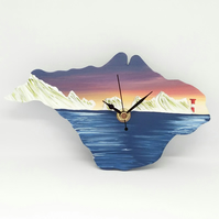 Isle of Wight Clock - The Needles sunset MADE TO ORDER