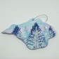 Hand painted Isle of Wight decoration blue trees