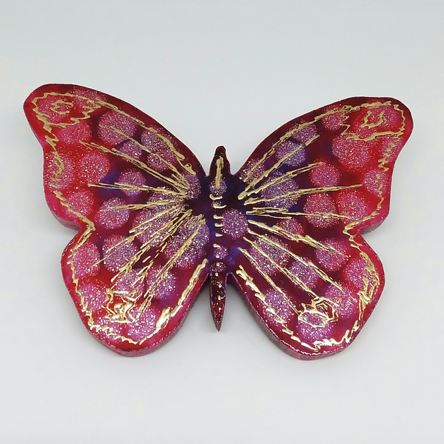 Wall hanging butterfly using glass paint