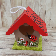 Ladybird house mini birdhouse decoration
