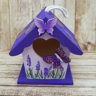 Purple Butterfly House Mini Hanging Decoration