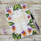 Pansy Blank A5 Hand painted journal, sketch book, art journal, planner