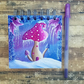 "Winter Shroom Hand painted 4""x4"" Journal or Sketch Book"
