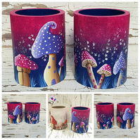 Magical Mushrooms Pen, Pencil or Brush Storage Pot. MADE TO ORDER