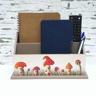 Summer Red Magical Mushroom Letter or Storage Rack