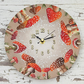 Magical Mushrooms Summer Red Wall Clock  - Made to order.