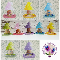 Spring Shroom Mushrooms - Blue, Pink, Purple, Green or Yellow. MADE TO ORDER