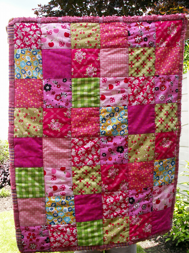 Sweet Cherry Pie Quilted Blanket