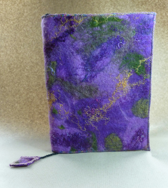 Handmade Felt Book Cover : Handmade felt covered sketch book journal folksy