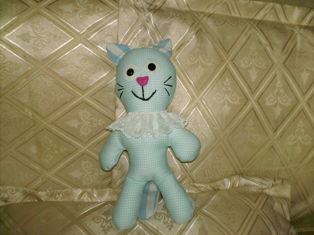 fabric animal cat hand made by lainy