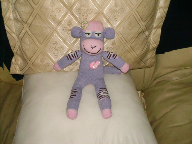 Sock animal monkey hand made by me.