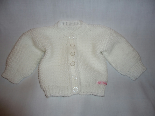 White baby cardigan age 3-6months