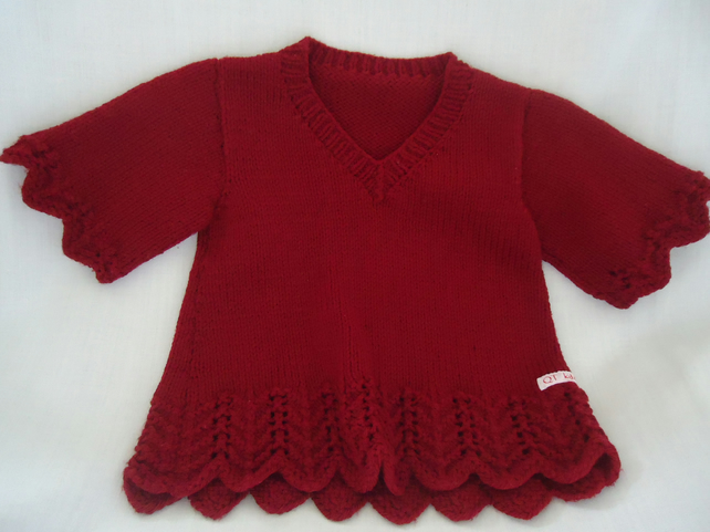 SALE   6-12 months girls short sleeve jumper