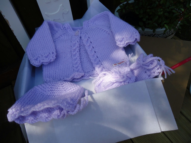 Lilac Baby Gift Set