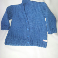 blue girls cardigan 0-3 months