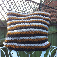 Autumn Stripe Chunky knit square hat
