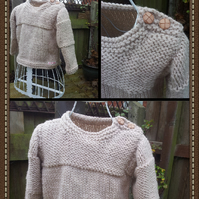 SALE  Beige chunky knit jumper Age 1-2