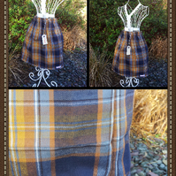 Navy and Gold Tartan Age 3 skirt