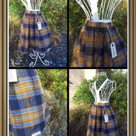 Navy and Gold Tartan skirt Age 5
