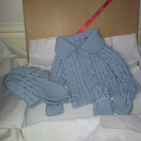 Merino mix Newborn baby gift set