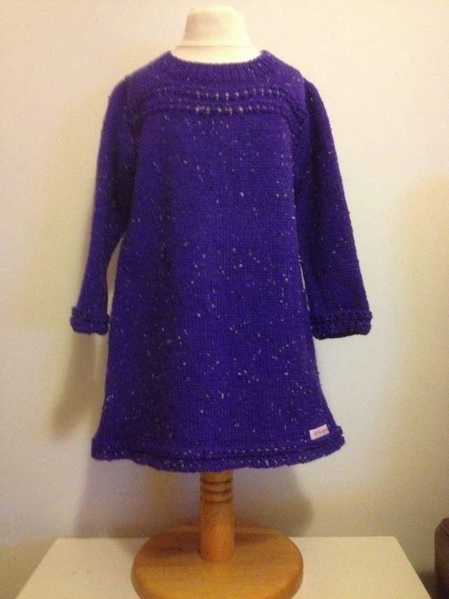 Purple Jumper dress Age 3