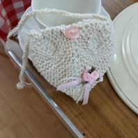 Heart shaped string purse
