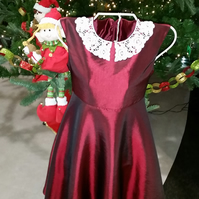 Red Party dress age 7