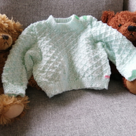 Mint green jumper age 3-6 months