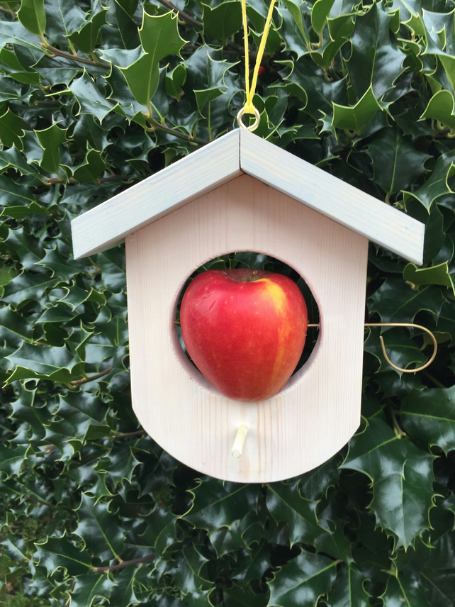 Bird Feeder for use with apples or fat balls.