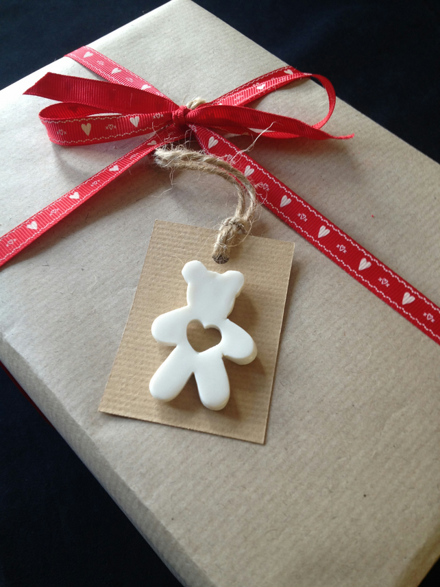 Porcelain Teddy Gift Tag