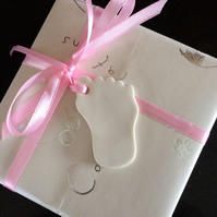 Porcelain l Baby Foot  (pink) Gift Tag