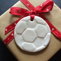 Porcelain Football shaped Gift Tag