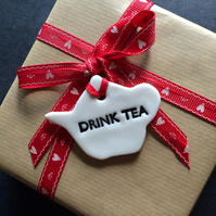 Porcelain Drink Tea Gift Tag