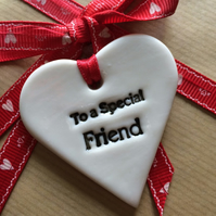 Porcelain To a Special Friend  Gift Tag